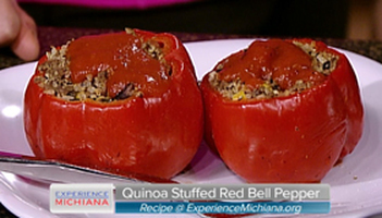 Quinoa Stuffed Red Bell Pepper Photo