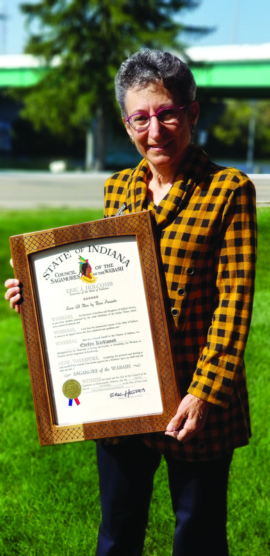 Evie Kirkwood receives Sagamore of the Wabash Image