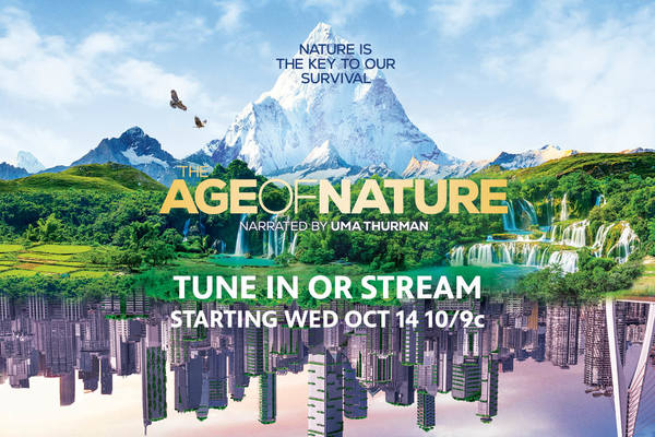 Tuen in or Stream the Age of Nature starting Wednesday October 14th at 10/9 central