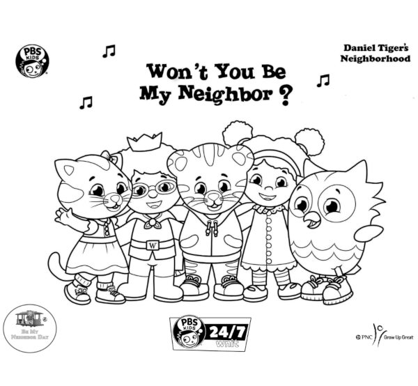 Image of Daniel Tiger Coloring Page