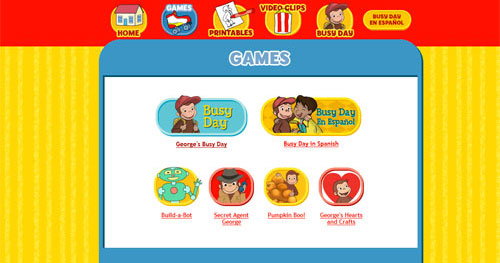 Image of Curious George Games