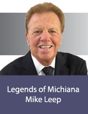 Logo for Legends of Michiana: Mike Leep