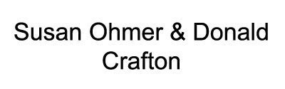 Susan Ohmer & Donald Crafton