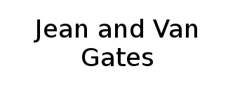 Jean and Van Gates Logo