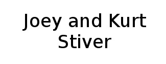 Joey and Kurt Stiver Logo