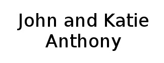 John and Katie Anthony Logo