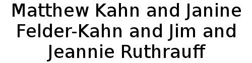 Matthew Kahn and Janine Felder-Kahn and Jim and Jeannie Ruthrauff Logo