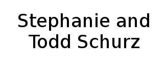 Stephanie and Todd Schurz Logo